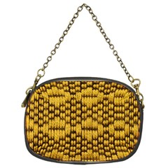 Golden Pattern Fabric Chain Purses (two Sides)