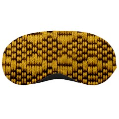 Golden Pattern Fabric Sleeping Masks