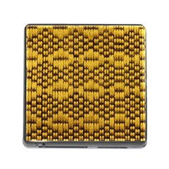 Golden Pattern Fabric Memory Card Reader (square)