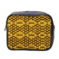 Golden Pattern Fabric Mini Toiletries Bag 2-Side