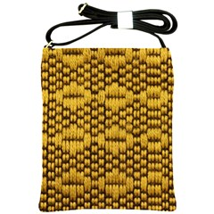 Golden Pattern Fabric Shoulder Sling Bags