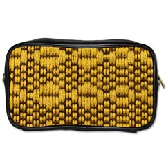 Golden Pattern Fabric Toiletries Bags