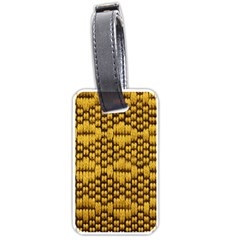 Golden Pattern Fabric Luggage Tags (two Sides)