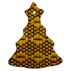 Golden Pattern Fabric Christmas Tree Ornament (Two Sides)