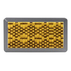 Golden Pattern Fabric Memory Card Reader (Mini)