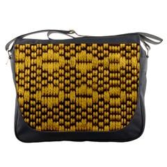 Golden Pattern Fabric Messenger Bags