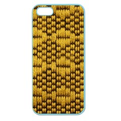 Golden Pattern Fabric Apple Seamless Iphone 5 Case (color)
