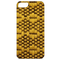 Golden Pattern Fabric Apple iPhone 5 Classic Hardshell Case