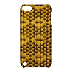 Golden Pattern Fabric Apple Ipod Touch 5 Hardshell Case With Stand