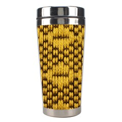 Golden Pattern Fabric Stainless Steel Travel Tumblers