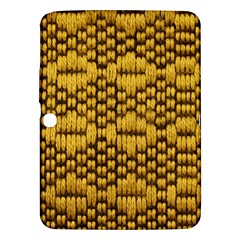 Golden Pattern Fabric Samsung Galaxy Tab 3 (10.1 ) P5200 Hardshell Case