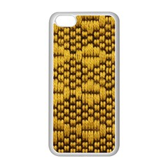 Golden Pattern Fabric Apple Iphone 5c Seamless Case (white)