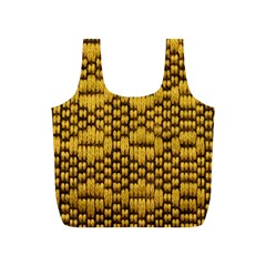 Golden Pattern Fabric Full Print Recycle Bags (S)
