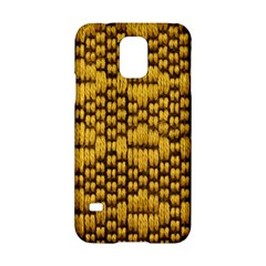 Golden Pattern Fabric Samsung Galaxy S5 Hardshell Case