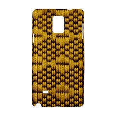 Golden Pattern Fabric Samsung Galaxy Note 4 Hardshell Case