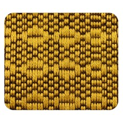 Golden Pattern Fabric Double Sided Flano Blanket (small)