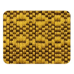 Golden Pattern Fabric Double Sided Flano Blanket (Large)