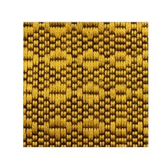 Golden Pattern Fabric Small Satin Scarf (square)