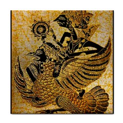 Golden Colorful The Beautiful Of Art Indonesian Batik Pattern Tile Coasters