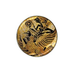 Golden Colorful The Beautiful Of Art Indonesian Batik Pattern Hat Clip Ball Marker