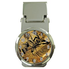 Golden Colorful The Beautiful Of Art Indonesian Batik Pattern Money Clip Watches