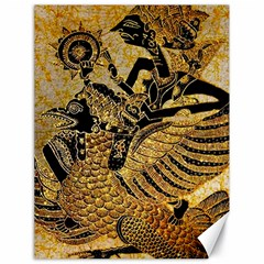 Golden Colorful The Beautiful Of Art Indonesian Batik Pattern Canvas 18  x 24