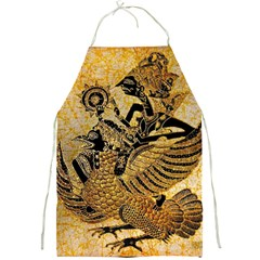 Golden Colorful The Beautiful Of Art Indonesian Batik Pattern Full Print Aprons