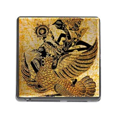 Golden Colorful The Beautiful Of Art Indonesian Batik Pattern Memory Card Reader (square)