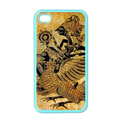 Golden Colorful The Beautiful Of Art Indonesian Batik Pattern Apple iPhone 4 Case (Color)