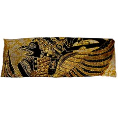 Golden Colorful The Beautiful Of Art Indonesian Batik Pattern Body Pillow Case Dakimakura (two Sides)