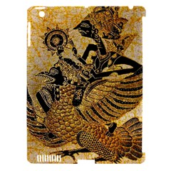 Golden Colorful The Beautiful Of Art Indonesian Batik Pattern Apple iPad 3/4 Hardshell Case (Compatible with Smart Cover)