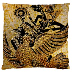 Golden Colorful The Beautiful Of Art Indonesian Batik Pattern Large Cushion Case (Two Sides)