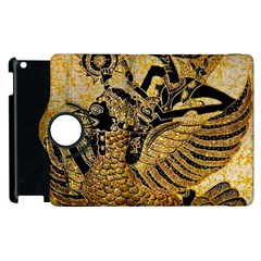 Golden Colorful The Beautiful Of Art Indonesian Batik Pattern Apple iPad 3/4 Flip 360 Case