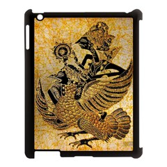 Golden Colorful The Beautiful Of Art Indonesian Batik Pattern Apple iPad 3/4 Case (Black)