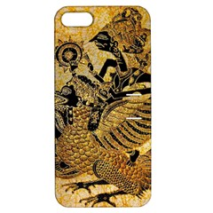 Golden Colorful The Beautiful Of Art Indonesian Batik Pattern Apple iPhone 5 Hardshell Case with Stand