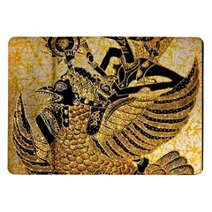 Golden Colorful The Beautiful Of Art Indonesian Batik Pattern Samsung Galaxy Tab 10.1  P7500 Flip Case