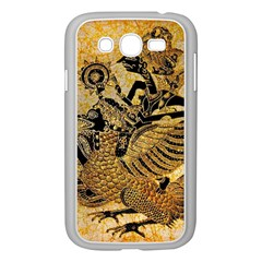 Golden Colorful The Beautiful Of Art Indonesian Batik Pattern Samsung Galaxy Grand DUOS I9082 Case (White)