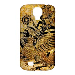 Golden Colorful The Beautiful Of Art Indonesian Batik Pattern Samsung Galaxy S4 Classic Hardshell Case (PC+Silicone)