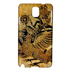 Golden Colorful The Beautiful Of Art Indonesian Batik Pattern Samsung Galaxy Note 3 N9005 Hardshell Case