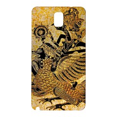 Golden Colorful The Beautiful Of Art Indonesian Batik Pattern Samsung Galaxy Note 3 N9005 Hardshell Back Case