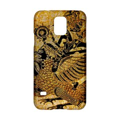 Golden Colorful The Beautiful Of Art Indonesian Batik Pattern Samsung Galaxy S5 Hardshell Case