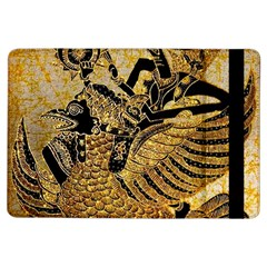 Golden Colorful The Beautiful Of Art Indonesian Batik Pattern iPad Air Flip