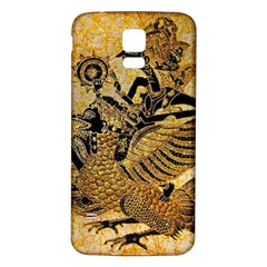 Golden Colorful The Beautiful Of Art Indonesian Batik Pattern Samsung Galaxy S5 Back Case (White)