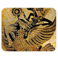 Golden Colorful The Beautiful Of Art Indonesian Batik Pattern Double Sided Flano Blanket (medium)