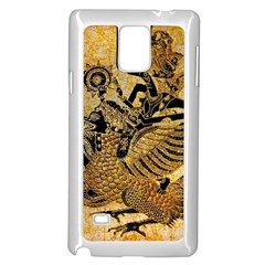 Golden Colorful The Beautiful Of Art Indonesian Batik Pattern Samsung Galaxy Note 4 Case (White)