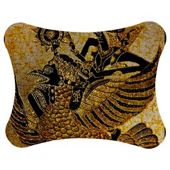 Golden Colorful The Beautiful Of Art Indonesian Batik Pattern Jigsaw Puzzle Photo Stand (Bow)