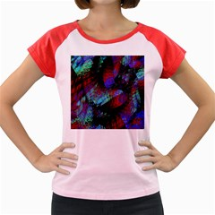 Native Blanket Abstract Digital Art Women s Cap Sleeve T Shirt