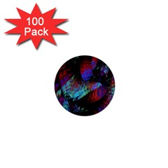 Native Blanket Abstract Digital Art 1  Mini Buttons (100 pack)