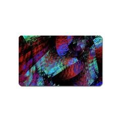 Native Blanket Abstract Digital Art Magnet (Name Card)