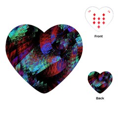 Native Blanket Abstract Digital Art Playing Cards (Heart)